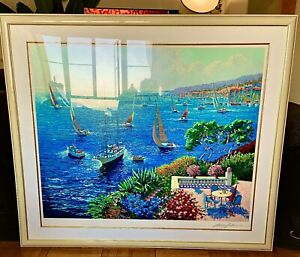 Kerry Hallam Serigraph Painting - Perfect Condition!
