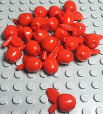 Lego X20 Pieces New Red Apple / Mini Figures Food Play Lot