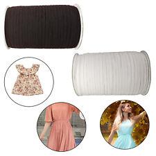 Elastic Cord Flat Sewing Elastic & Stretch Dress Making Sewing Band White Black