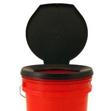 Portable Bucket Toilet Seat Cover Camping Travel Bathroom Black Outdoor Hygiene
