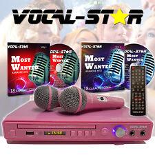 Vocal-Star Pink VS-400 DVD CDG MP3 Karaoke Machine 2 Microphones & Top Songs
