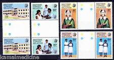 Virgin Island 1983 MNH 4v Gutter pairs, Florence Nightingale, Nursing Hospi- H20