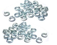 "New spring washer 1/4"", Pack of 100, zinc plated, nut bolts, fixing, uk seller"