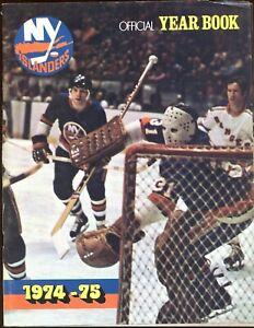 1974/1975 NHL Hockey New York Islanders Yearbook VGEX