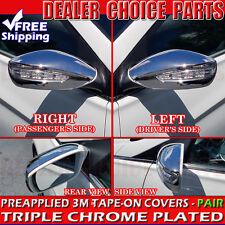 Fits 2011 2012 2013 2014 Hyundai Sonata FULL Chrome Mirror COVERS(W/turn signal)
