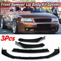 For Audi A3 S3 8L Front Bumper Cup Chin Spoiler Lip Splitter Valance Gloss