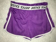 Justice Purple Gymnast Cheerleading  Shorts Size 12