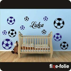 Wandtattoo Kinderzimmer  l Wunschnamen l Fußbälle l Fußball l Ball l Name #127