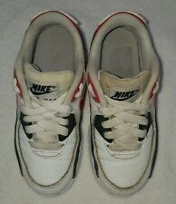 Nike Air Max White Red Shoes boys' kids' size 11C Guc
