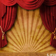 6x8ft Vinyl Indoor Circus Curtain Stage Photography Studio Backdrop Background