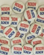 Richard NIxon & Spiro Agnew Dealer Wholesale Lot Set of 25 Original Buttons