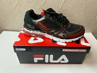 FILA ANDAZ Energized 360 Black Red Running Shoes Sneakers athletic Size 11