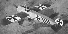 "Model Airplane Plans (Uc): Fokker E-1 Scale 20"" Fighter for .074-.099 (Musciano)"