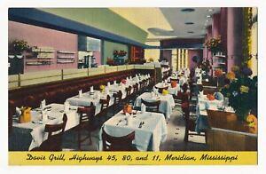 Davis Grill, Meridian, Mississippi 1940's