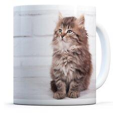 Cute Fluffy Kitten - Drinks Mug Cup Kitchen Birthday Office Fun Gift #15925