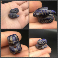 Ancinet Egyption Art Very Old Lapiz Lazuli Small Amulet Bead