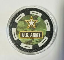 Army Texas Holdem Poker Chip Card Guard Protector US United States Army Military