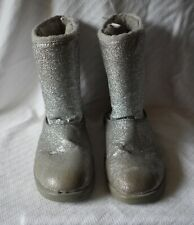 Girls 5 Youth Silver Winter Fashion Boots Glitter