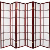 HONGVILLE Furniture 3-8 Panel, Six colors, 6 ft. Tall Double Cross Shoji Screen