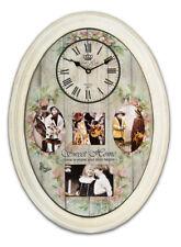 Fotouhr 52 aus Holz in Creme 40x55 cm für 4 Bilder Foto Wand Uhr Bilderrahmen
