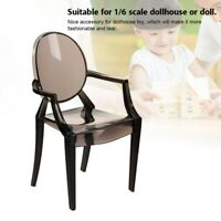 1/6 Doll House Chair Plastic Dollhouse Docer Miniature Armchair Kids Toy Model
