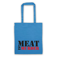 meat is murder shoulder tote bag different colours protest vegetarian vegan