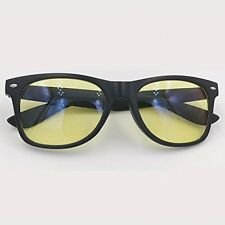 Computer Glasses Readers Gaming Teens Adults Black Frame Yellow Lens
