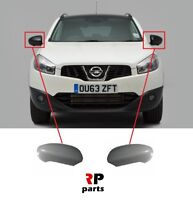 FOR NISSAN QASHQAI 2007-2014 NEW WING MIRROR COVER CAP PRIMED PAIR SET