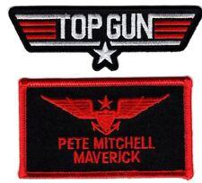 Maverick Top Gun School Name Badge Patch (2PC Set-Hook Fastener )