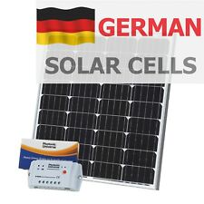 80W 12V solar panel kit (10A controller, 5m cable) for camper / boat 80 watt