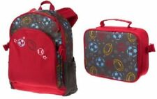 Gymboree Red Sports Print Canvas Backpack & Lunch Box. Combo