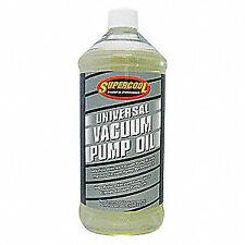 SUPERCOOL Vacuum Pump Oil,Yellow,1 qt., 37476, Yellow