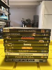 Lot Of 10 Dvd Assorted Movies! Good Will Hunting, I Am Legend, Rambo, Honey.
