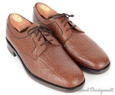 LOAKE Brown Solid Leather Grain Oxford Derby Dress Shoes ENGLAND - UK 7 / US 7.5