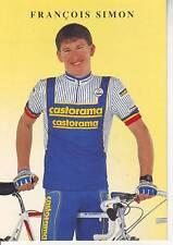 CYCLISME carte cycliste FRANCOIS SIMON équipe CASTORAMA  1991