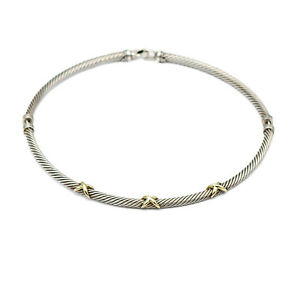 David Yurman Triple X Cable Choker Necklace