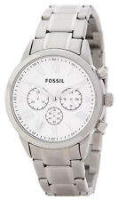 Fossil Men's BQ1740IE White Dial Silver Tone Stainless Steel Chronograph Watch