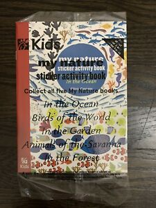 Chick-fil-a Kid's Meal Promo 2020 My Nature Sticker Activity Book In the Ocean