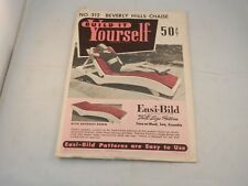 "VINTAGE BUILD IT YOURSELF KIT ""NEW"" BEVERLY HILLS CHAISE #312 INSTRUCTIONS"