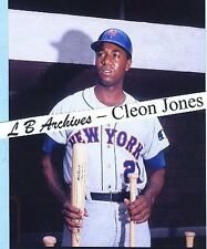 11x14 CLEON JONES Mets 1969 color dugout Photo card
