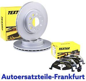 TEXTAR Bremsscheiben + Beläge AUDI A3 VW GOLF 5 6 SEAT TOLEDO LEON + SKODA VORNE