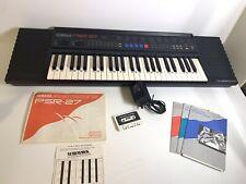 Yamaha PSR-27 Keyboard Voice Bank 5050 Dual Voices PCM Rhythm DASS w/ Adapter