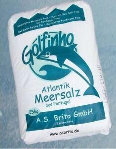 25kg Meersalz Golfinho Fein Salz Portugal Speisesalz Kochsalz