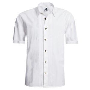 GermanWear Trachtenhemd Businesshemd 2x5 Biesen Hemd Halbarm Baumwolle