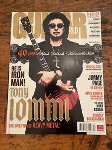 Guitar World Holiday 2008 Tony Iommi Jimmy Page Alice Cooper Kurt Cobain VG