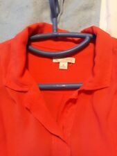 Red Loose Fitting Blouse by Gap