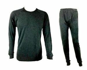 2pc Mens Merino Wool Top Pants Set Thermal Leggings Johns Base Layer Underwear