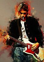 Kurt Cobain Nirvana Art Print High Quality 13x19 Poster Vintage 90's Rock Music