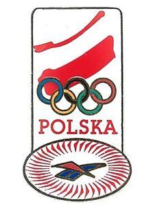 Poland NOC Olympic Pin Polska Rings