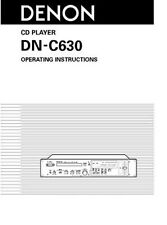 Denon DN-C630 professional CD Player - Operating Instruction - USER MANUAL